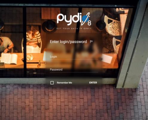 pydio login screen